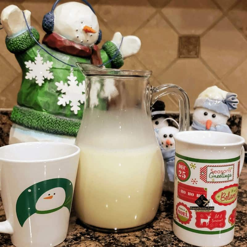 Simple Holiday Eggnog in a pitcher