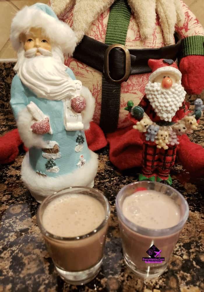 Santa's Sooty Shooters, Amaretto, Shooters, Holiday, Party, Gatherings, Cheers, Ching Ching, Sip Sip Hooray, SPIRITS, DONT DRINK AND DRIVE, santa, soot, fun, libations