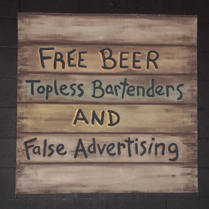 Funny Beer Sign in Put-in-Bay