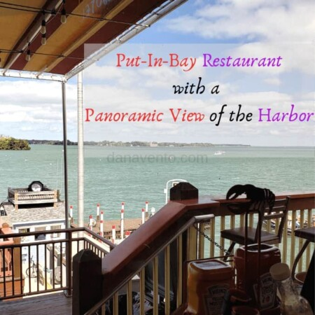 Put In Bay Boardwalk Eatery with View of the harbor