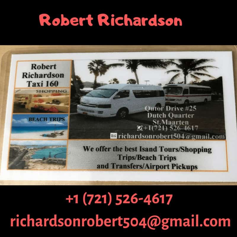 Airport taxi business card