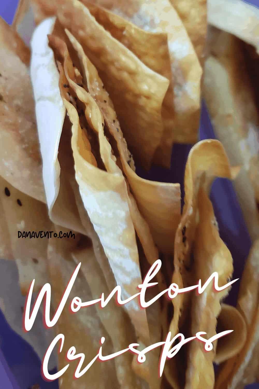 wonton crisps upright stack