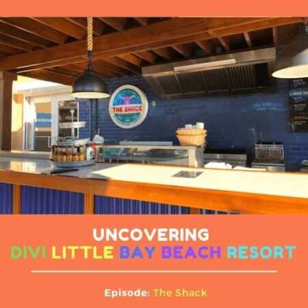 Uncovering Divi Little Bay Beach Resort - Episode: The Shack, BBQ, Chicken, Shrimp, French Fries, Sweet Potato Fries, Allergen Friendly, Good Eats, Grab and Go, Part of the All Inclusive, Pay by eat, Beach Food, Order, Take, Carry, Cruise Ship Passengers, Eat, Pay, Good Eats, Close to Pure Ocean Pool, By Gizmo's, Closed Wednesdays, Wendy, Chef Benito, Divi, Uncovering Divi, Divi Little Bay Beach Resort, by the pool, at the ocean, fast, al fresco dining, patio area, outdoor seating, grilled, Divi Life, Divi Foods, Divi Eats, Discovering Divi