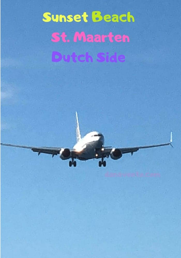 Plane descending in St. Maarten