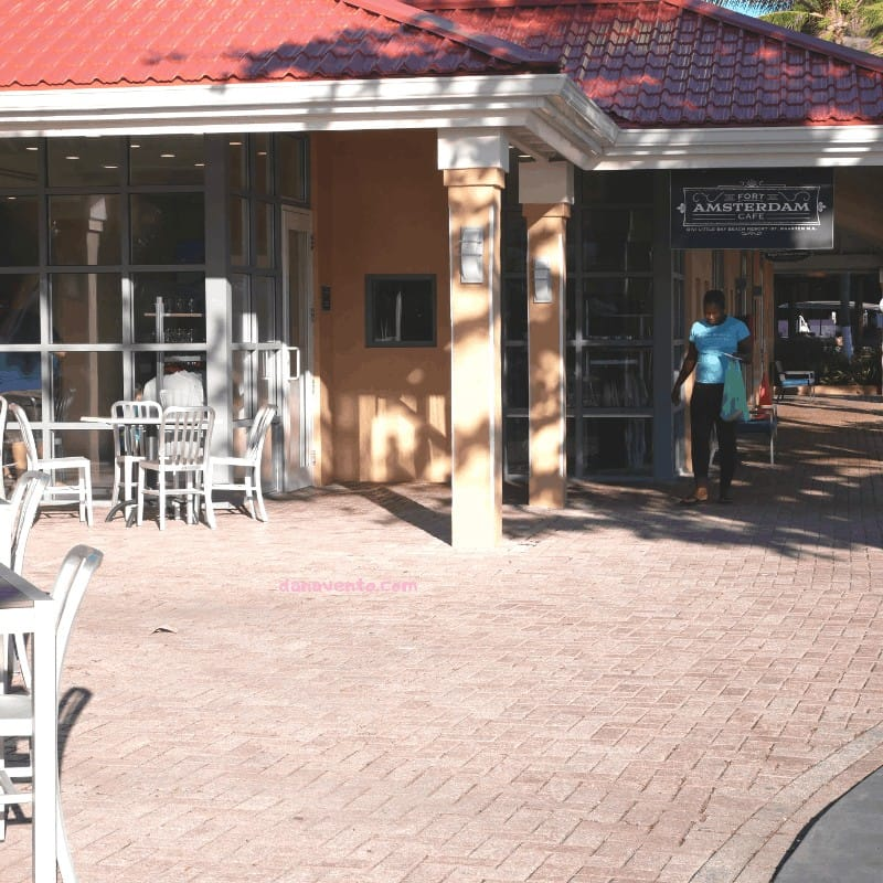 Fort Amsterdam Cafe outside in St. Maarten