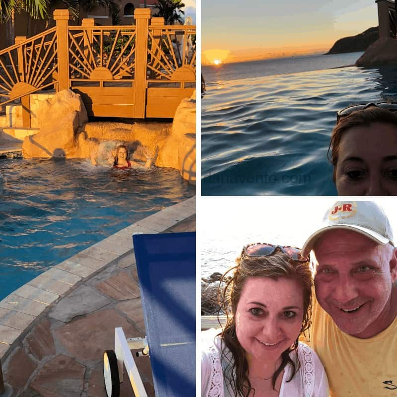The Infinity Pool and the sunset