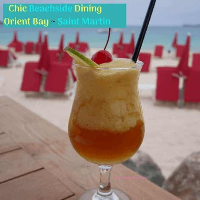 Chic Beachside Dining At Orient Bay in Saint Martin