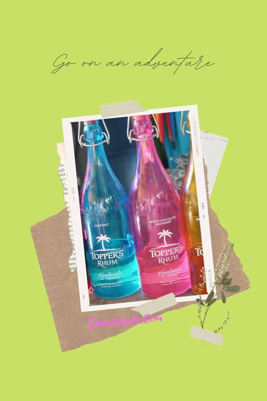Saint Martin Distillery Tour party bottles