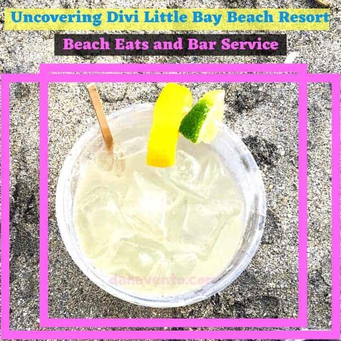 Divi Little bay Beach resort St. Maarten Margarita in the sand
