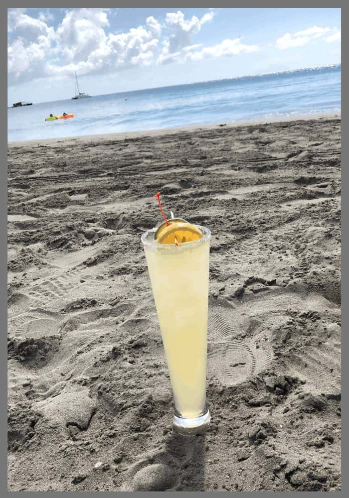 Tall Margarita in the sand