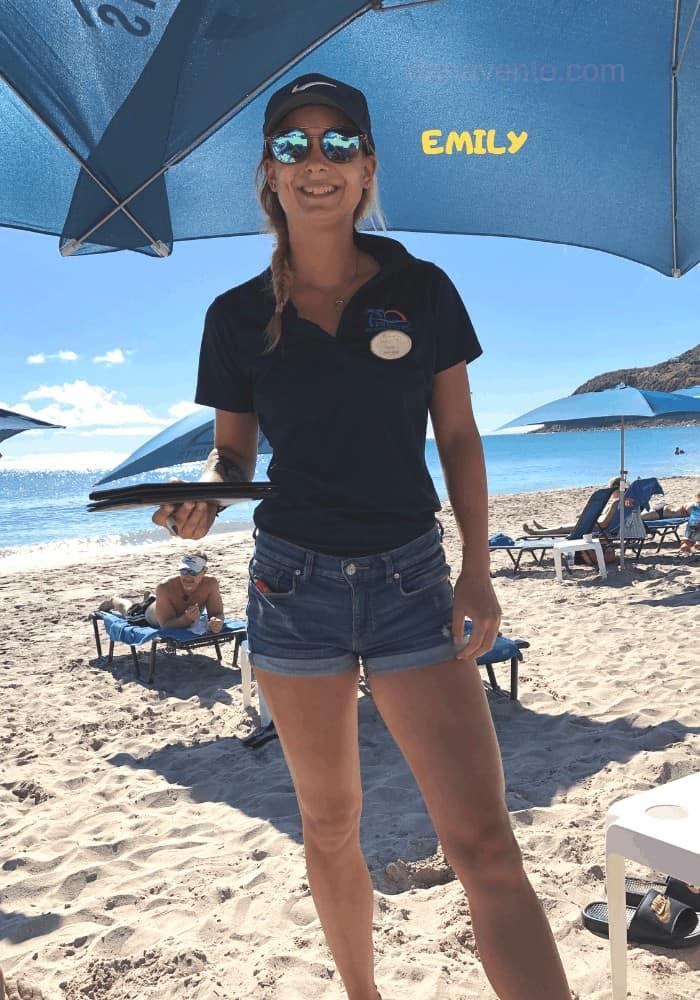 Emily at Little Bay Beach in Divi