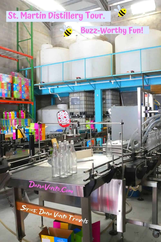 Sint Maarten Distillery Tour inside distillery