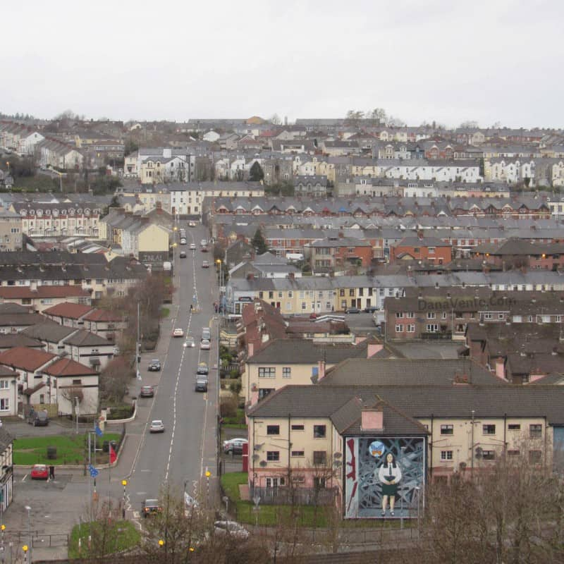 painted mural of Annette McGavigan from The Walls of Derry
