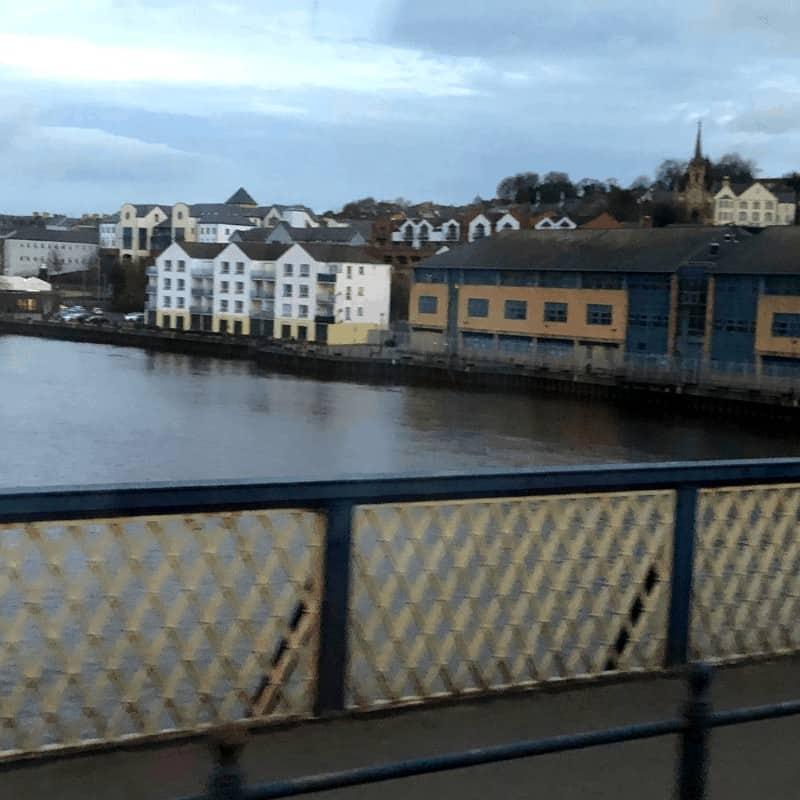 River Foyle in Derry, Northern Ireland