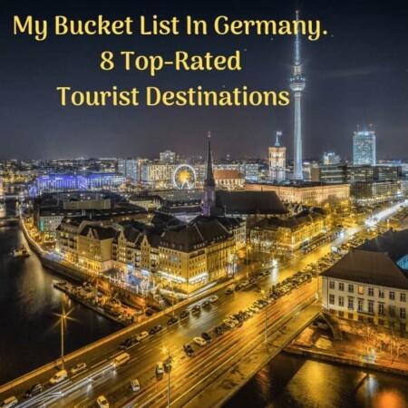 My Bucket List In Germany For 8 Top Rated Tourist Destinations, Germany, Geierlay Suspension Bridge, The Rhine Valley, Schloss Neuschwanstein, Bodensee, The Berlin Wall, The Black Forest, Bradenburg Gate