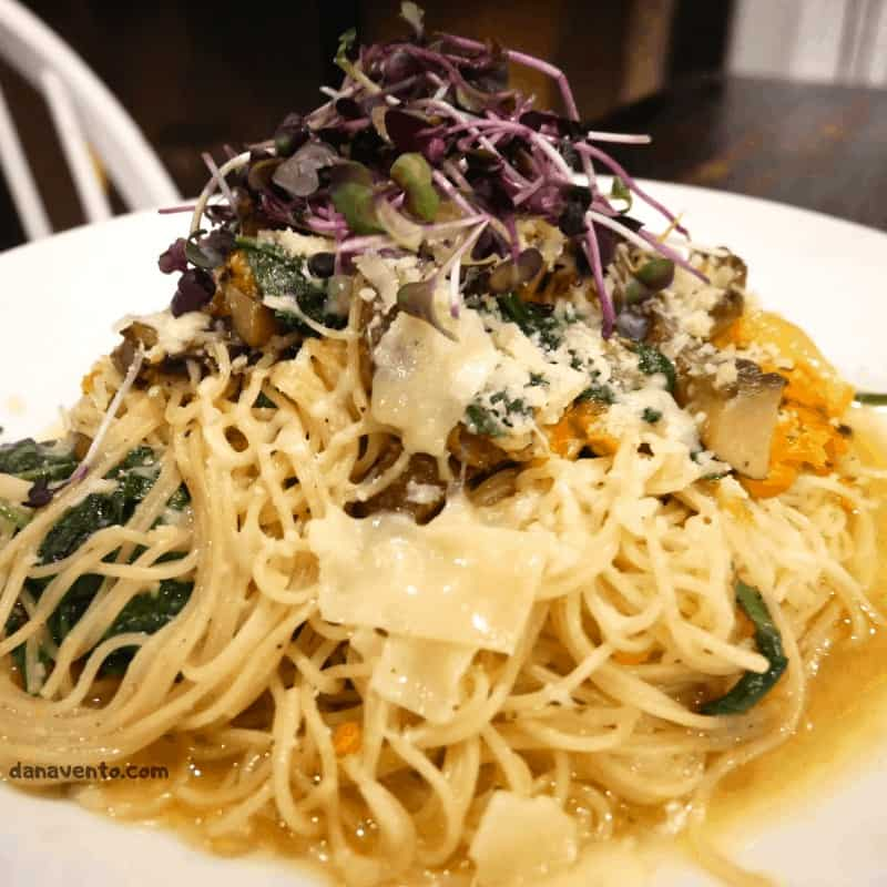 Pasta A'Oglio At Lifesaving Station for Upscale Southern Eats in Duck, North Carolina