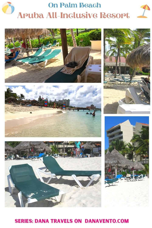 All Inclusive Aruba Resort on Palm Beach chairs and beach scene