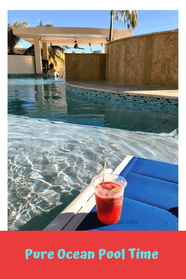 Pure Ocean Pool with Strawberry Daquiri