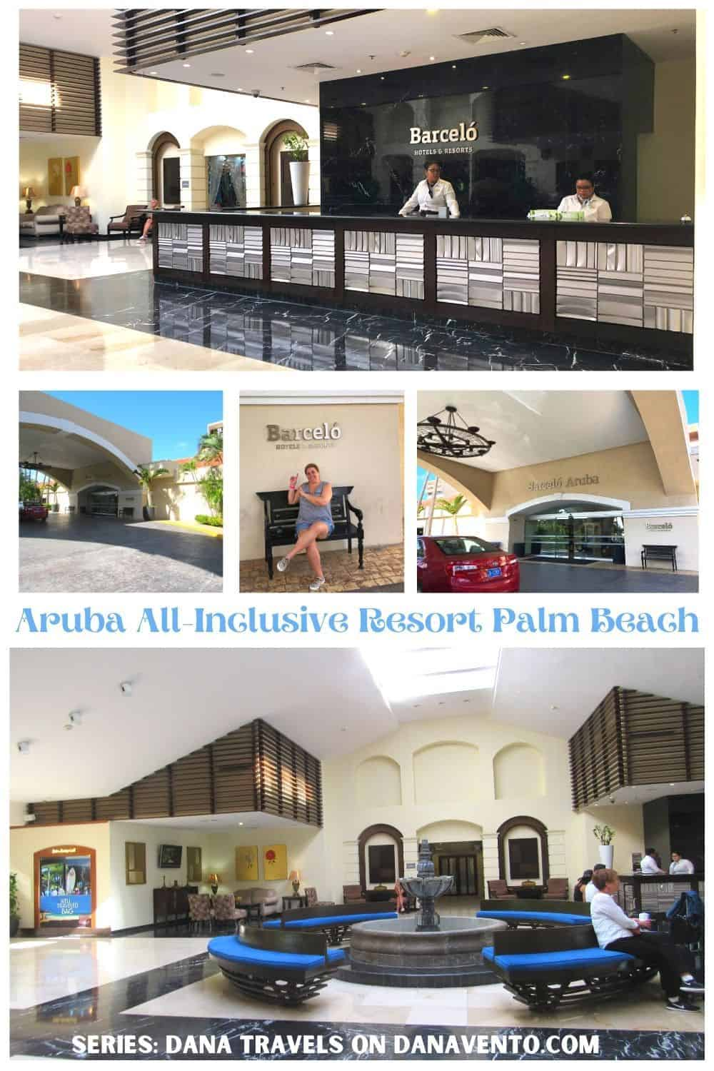 Exterior Front Front Desk at All Inclusive Aruba Resort on Palm Beach