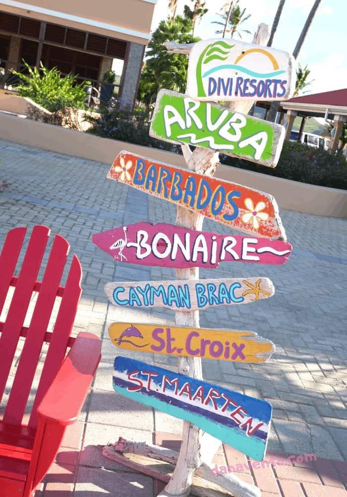 St. Maarten All-Inclusive Resort directional Sign Divi Resorts