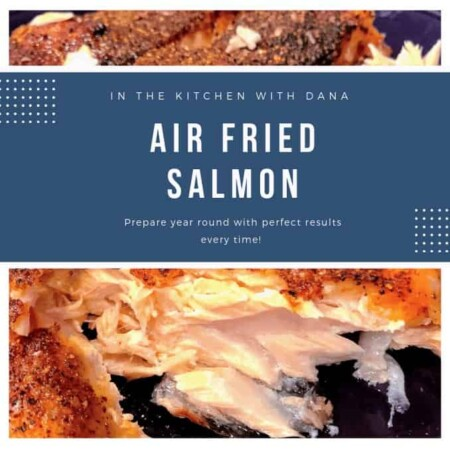 air fried salmon flaked