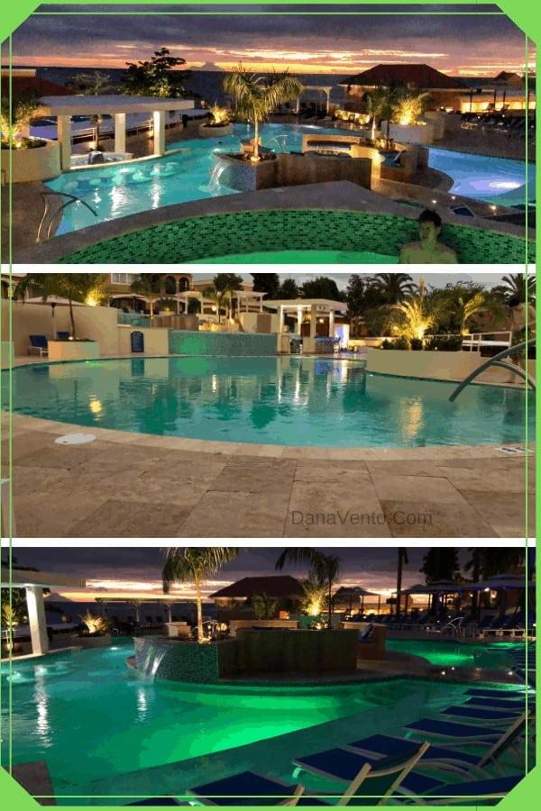 St. Maarten All-Inclusive Resort Pool Pure Ocean by night