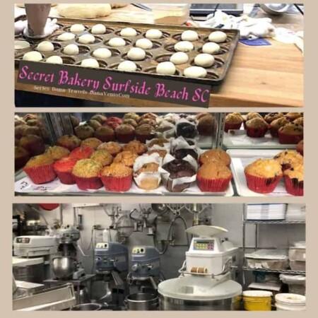 secret bakery Surfside Beach SC baking in progress