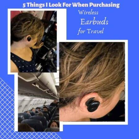 5 Things I Look For When Purchasing True Wireless Earbuds for Travel, wireless, charging case, on the go charging, snug fit, water resistant, Best Buy, Tech, Bluetooth, fast connect, easy to use, large buttons, traveling must have, travel, plane, train, car, walking, working out