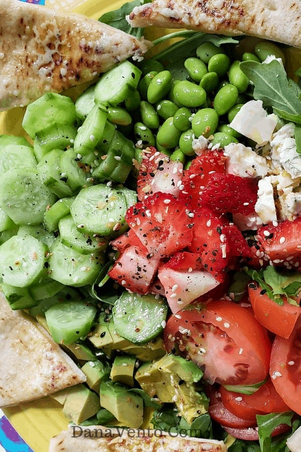 Simple Cucumber, Avocado and Strawberry Salad