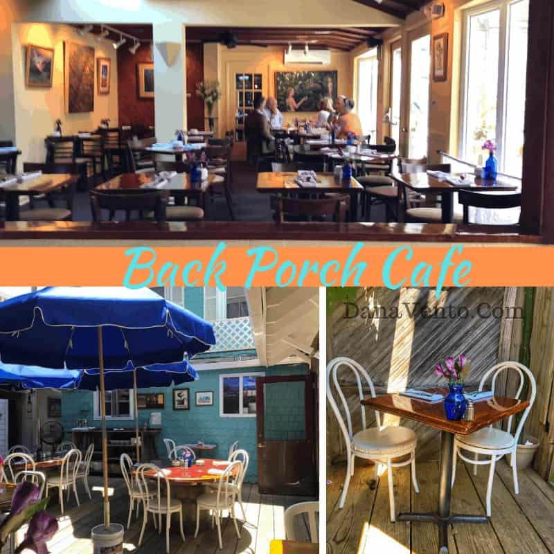Southern Delaware Beach Town eats at the Back Porch Cafe - Sophisticated eats in quaint destination.