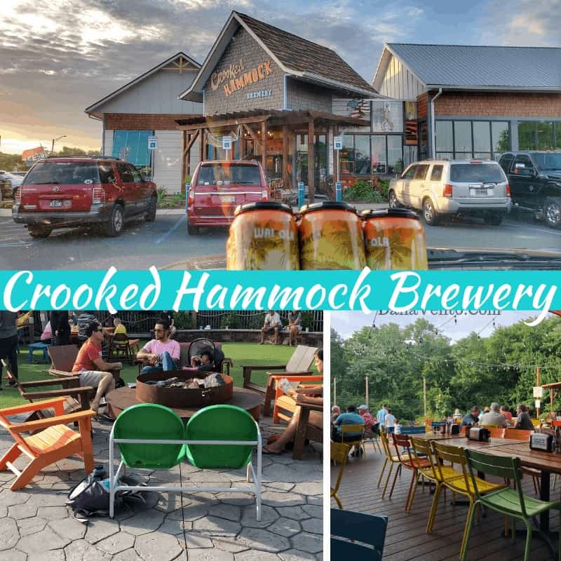 Crooked Hammock Brewery. Southern Delaware Beach Town Eats outdoor and indoor seating.