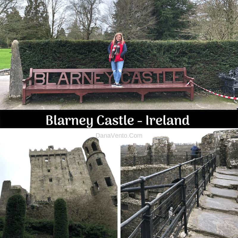 Dana on bench at the Blarney Castle