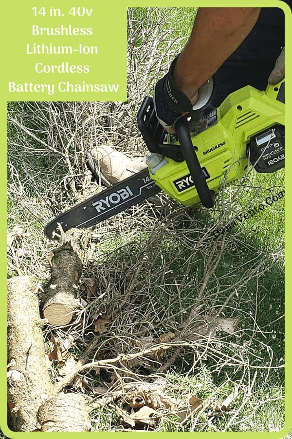 Best Gas-Like 40V Brushless Battery Chainsaw for Cutting Trees and Limbs, safety gear, RYOBI Outdoor Power Tools, Trees, Limbs, Brush, Task, DIY, made easier, lighter, fast, Battery Driven, Cordless, No Gas, No Oil, No Trips to store, Recharge, Use, yardwork, DIY Yardwork, cutting, debris, storms, wooded lots, hours to minutes, fast, easy, reliable, rugged, chainsaw, must have, tools,
