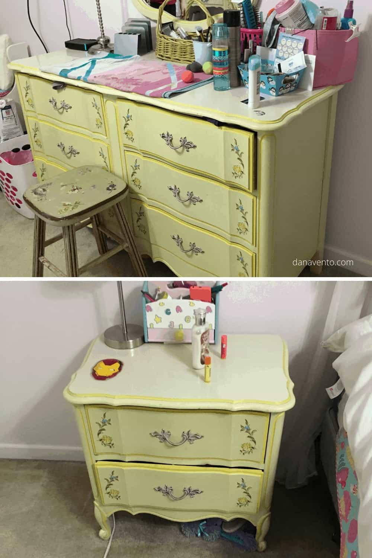 Yellow Furniture BEFORE