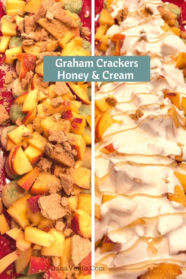 Delicious and Easy Peach Mascarpone Ladyfingers, fresh peaches, summer recipe, fast, easy, delicious, no bake recipe, no baking required, graham crackers, honey, caramel, dessert, summer dessert, seasonal dessert, farm market, south carolina peaches, chunk, cut, ladyfingers, friends, families, take along food, most requested recipe, Italy, bites, spoon, rich, delicious, satisfying, quick, refrigerated, homemade, hand crafted, kitchen, alcohol, creamy, culinary, recipe, easy recipe, recipe video
