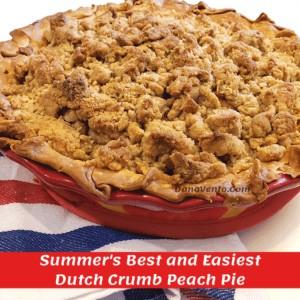 Dutch Crumb Peach Pie Baked