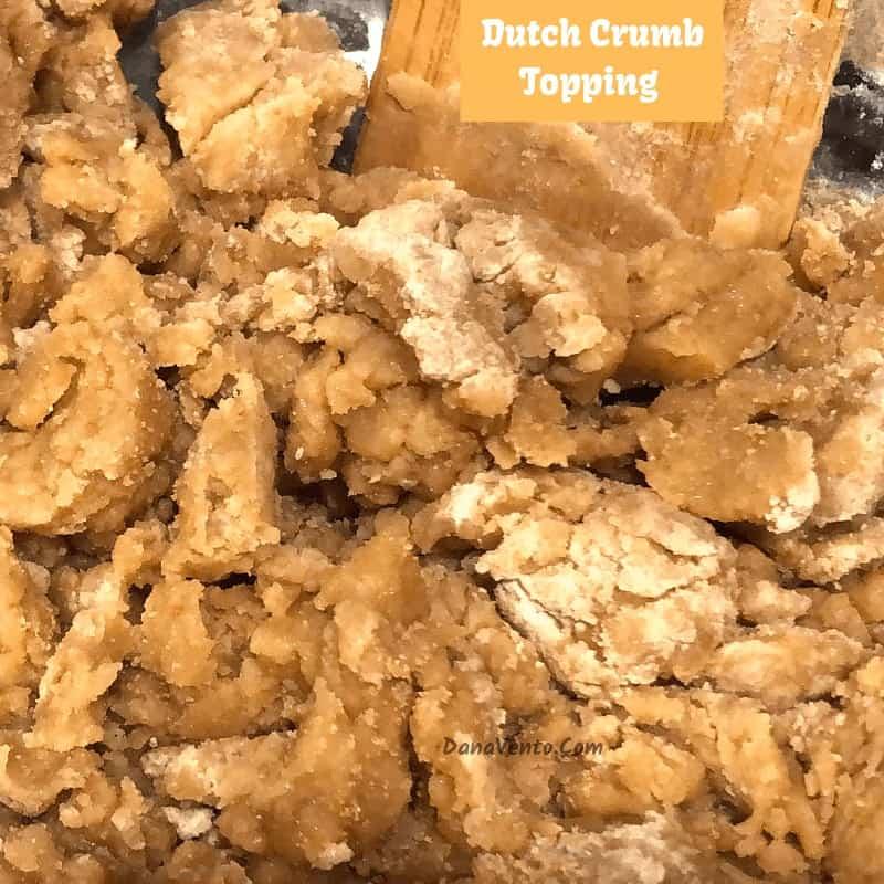 dutch crumb topping in mixing bowl