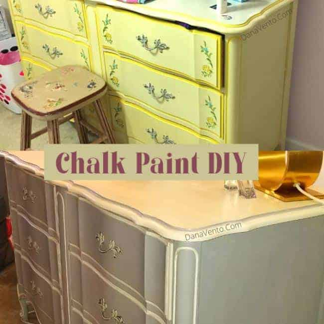 Ugly Yellow to New Chalk Paint on Dreser