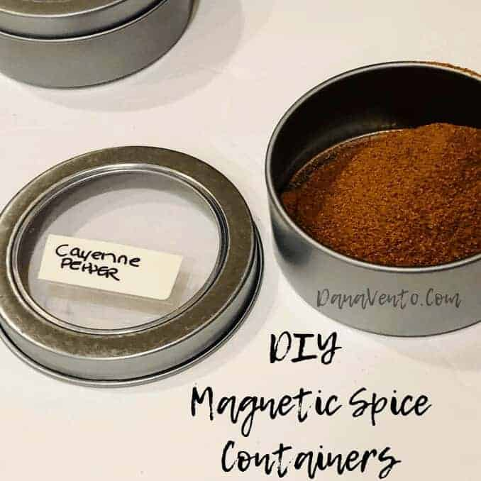 DIY Magnetic Spice Containers For Your Refrigerator for different spices