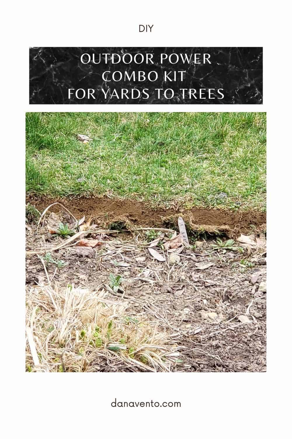 EDGING Outdoor Power Combo Kit for yards to trees