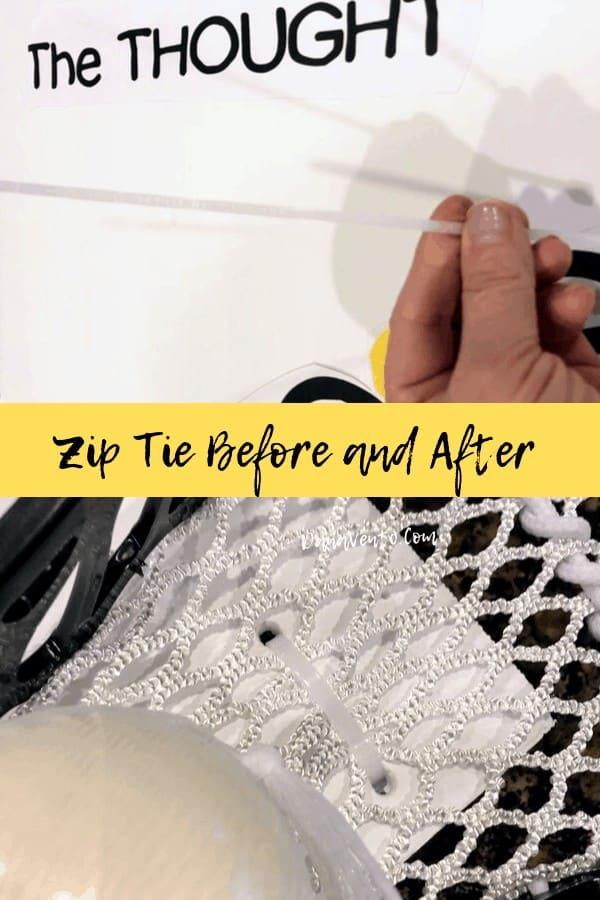 Zip Ties for Lacrosse sign