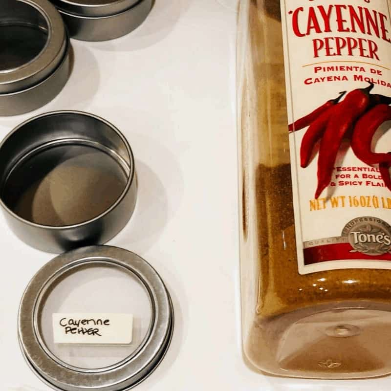 DIY Magnetic Spice Containers For Your Refrigerator being made
