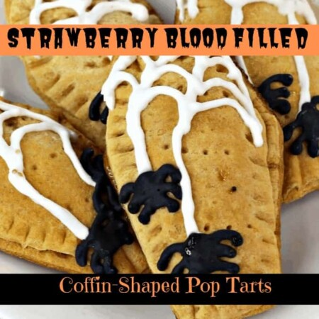 Strawberry Blood-Filled Coffin-Shaped Pop Tarts