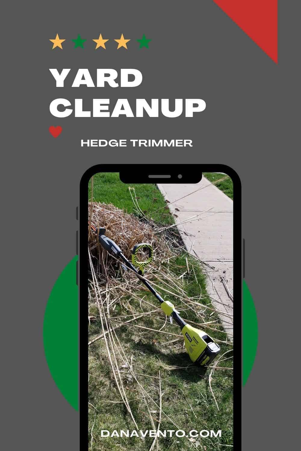yard cleanup hedge trimmer