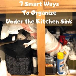 7 Smart Ways To Organize Under the Kitchen Sink