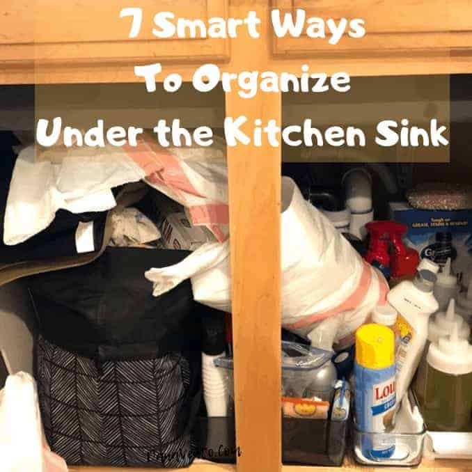 7 Smart Ways To Organize Under the Kitchen Sink