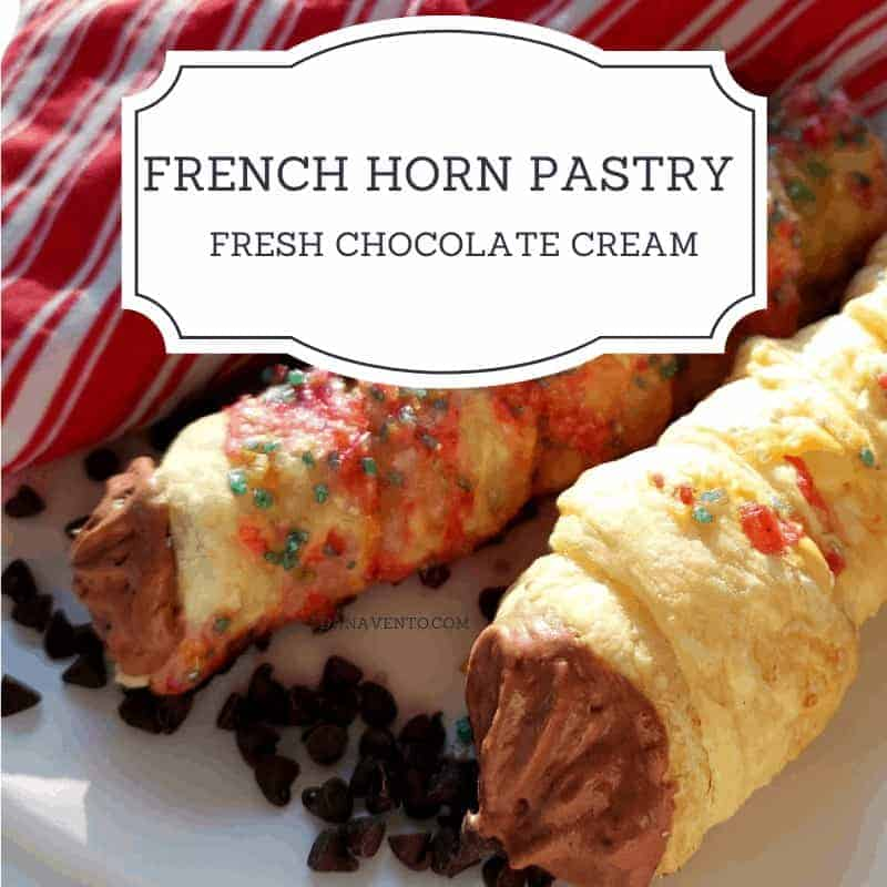CREAM HORNS WITH CHOCOLATE FILLING