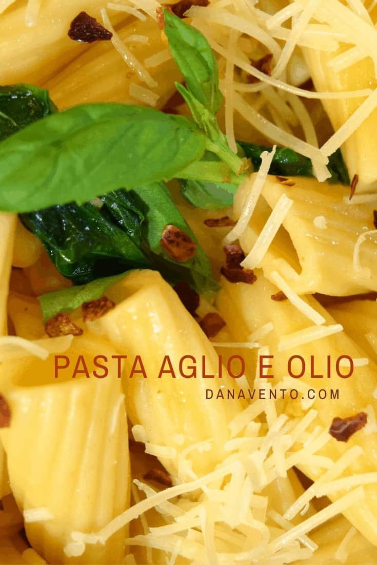 Authentic Pasta Aglio e Olio up close