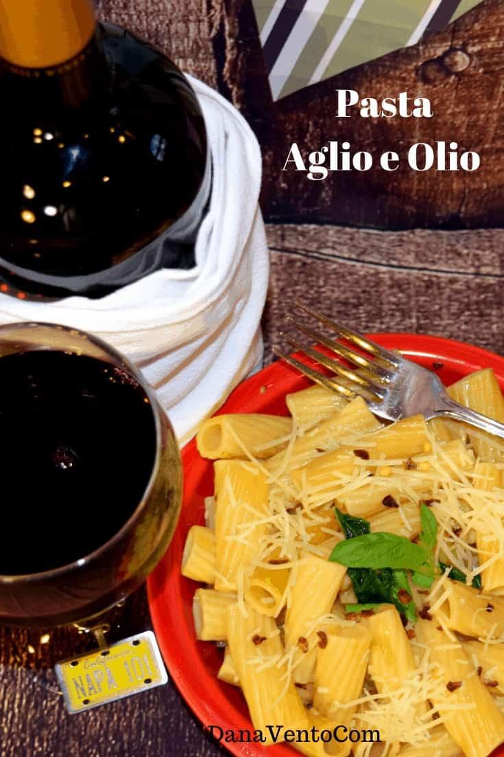 Authentic Pasta Aglio e Olio in a Pressure Cooker, pasta, garlic, oil, basil, portions, Italian Food, Pressure Cooker, Pressure Cooker Italian Meal, water, Pressure Cooking, Pressure Cooker Recipe, Italian Recipe