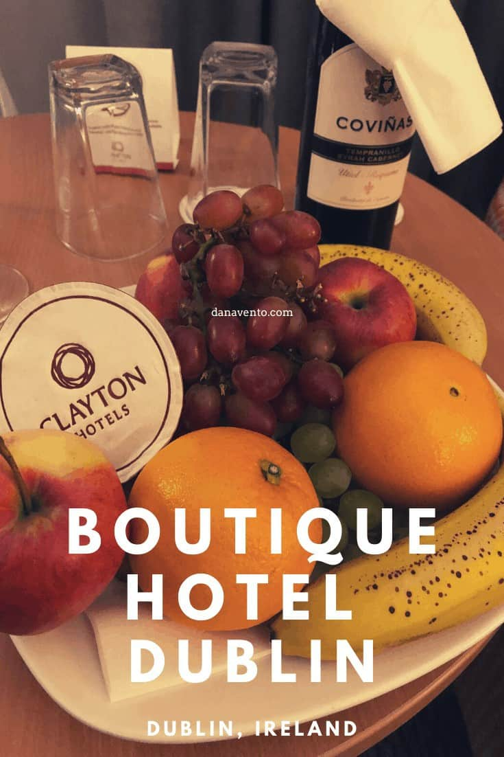 Our welcome basket at the Clayton Hotel